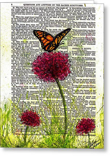 Pen And Paper Greeting Cards - Flutter By Greeting Card by Melissa Sherbon