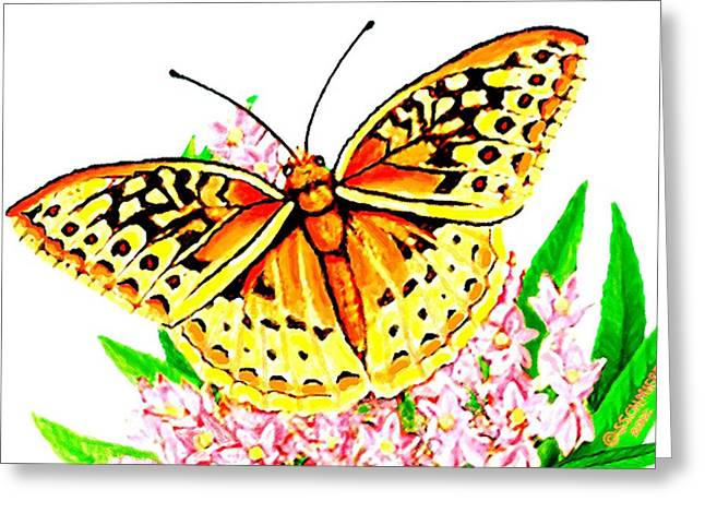 Spring Pastels Greeting Cards - Flutterby Greeting Card by SophiaArt Gallery