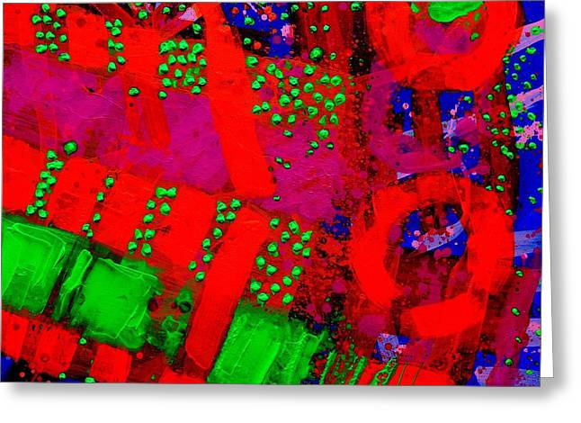 Abstract Art Greeting Cards Greeting Cards - Flux Line Abstract 24914  Greeting Card by John  Nolan