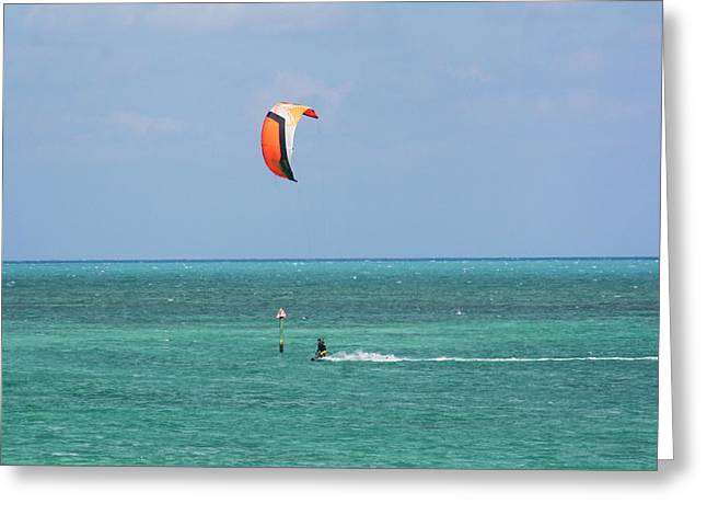 Kite Boarding Greeting Cards - Fly A Kite Greeting Card by Chuck  Hicks