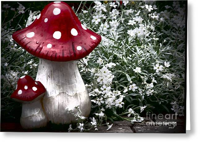 Shower Curtain Greeting Cards - Fly agaric Greeting Card by  ILONA ANITA TIGGES - GOETZE  ART and Photography