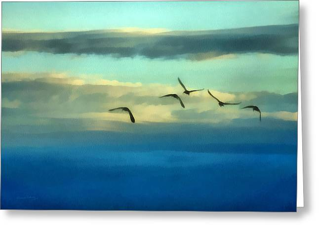 Ibis Greeting Cards - Fly Away Greeting Card by Ernie Echols