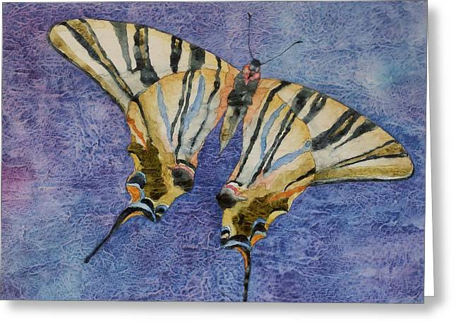 Cocoon Paintings Greeting Cards - Fly Away Home Greeting Card by Casey Rasmussen White