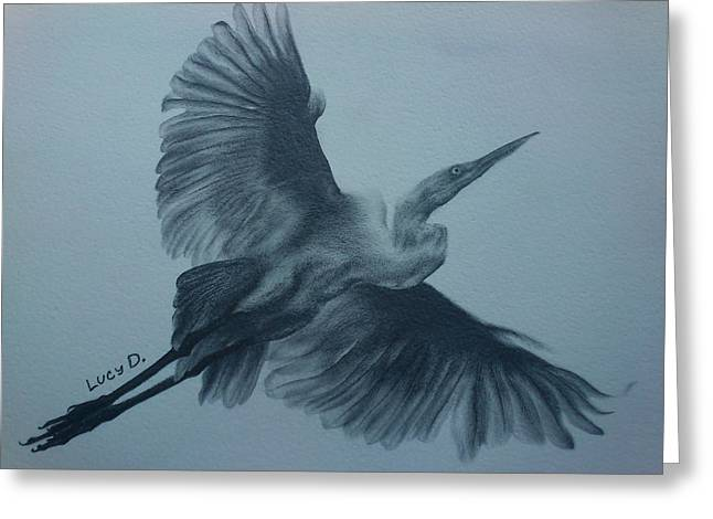 Fly Away Greeting Card by Lucy D