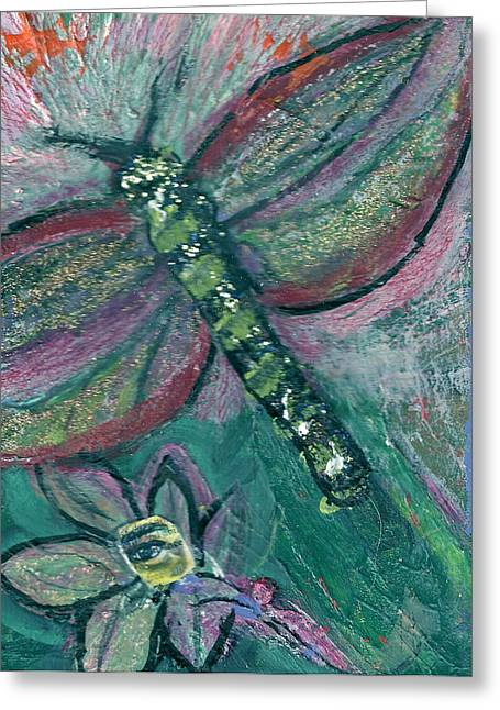 Fly Away With Me Greeting Card by Anne-Elizabeth Whiteway