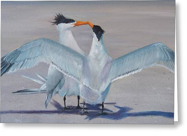 Tern Paintings Greeting Cards - Fly Away With Me Greeting Card by Karen Langley