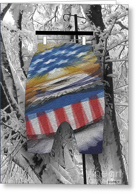 Loop De Loop Greeting Cards - Fly Boy Winter -2 Greeting Card by Doris Rowe