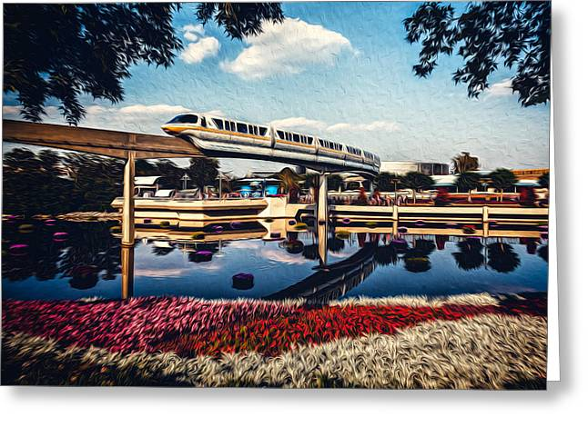 Monorail Greeting Cards - Fly By Greeting Card by Joshua Minso