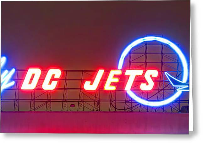 Fly Dc Jets Greeting Card by Heidi Smith