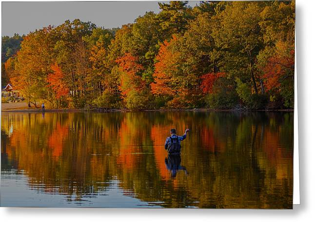 Boston Ma Greeting Cards - Fly Fishing Greeting Card by Brian MacLean