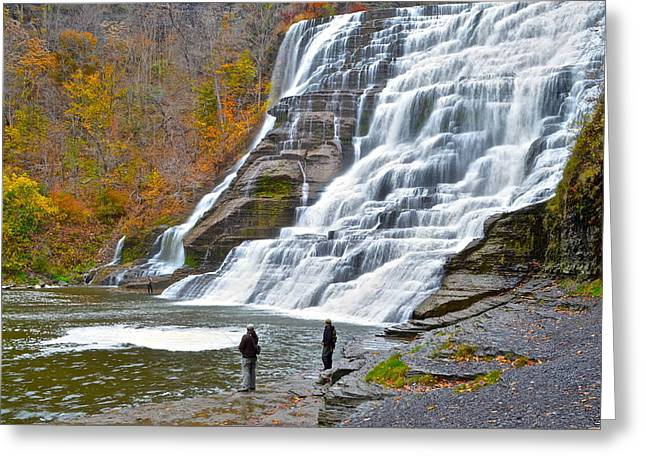 Finger Lakes Greeting Cards - Fly Fishing Greeting Card by Frozen in Time Fine Art Photography