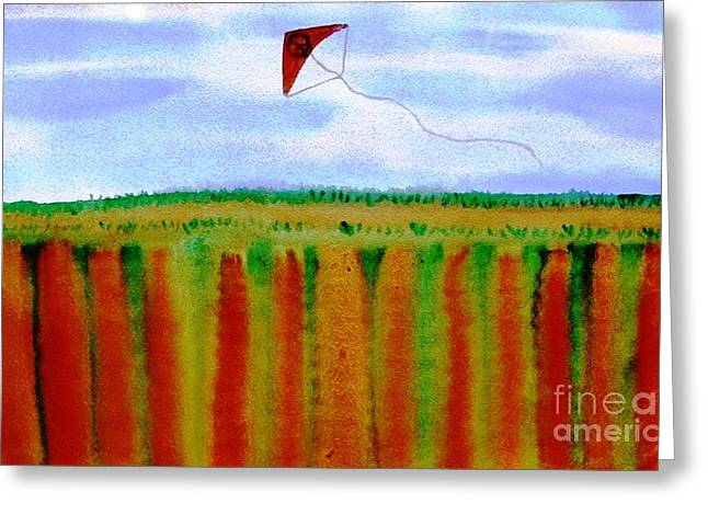 Jutta Gabriel Greeting Cards - ...fly For Peace And Freedom... Greeting Card by Jutta Gabriel