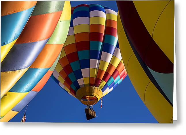 Ballooning Greeting Cards - Fly free Greeting Card by Garry Gay