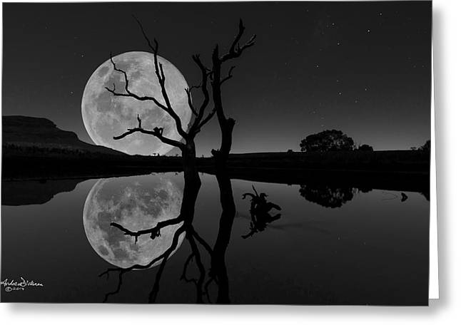Super Stars Greeting Cards - Fly me to the Moon Greeting Card by Andrew Dickman