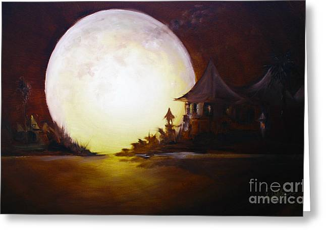 Bob Ross Paintings Greeting Cards - Fly Me to the Moon Greeting Card by David Kacey