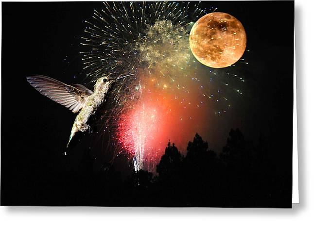 Fly Me to the Moon Greeting Card by Lynn Bauer