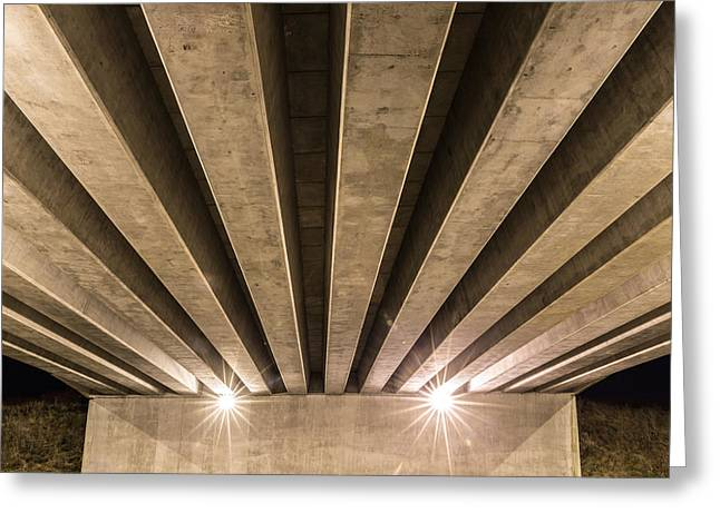 Highway Lights Greeting Cards - Fly Over Greeting Card by Semmick Photo
