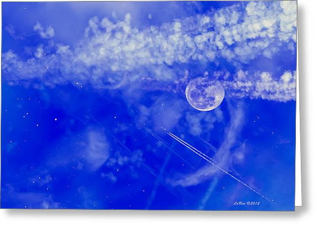 Fly To The Moon And Stars Greeting Card by La Rae  Roberts