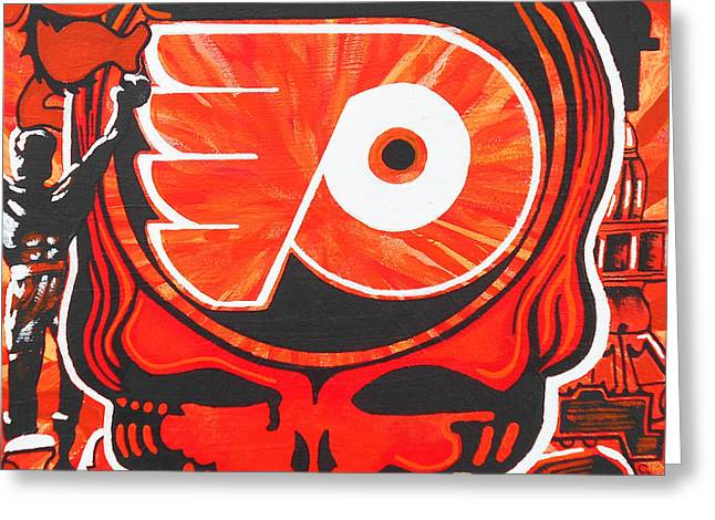 Flyers Art Greeting Cards - Flyer Love Greeting Card by Kevin J Cooper Artwork