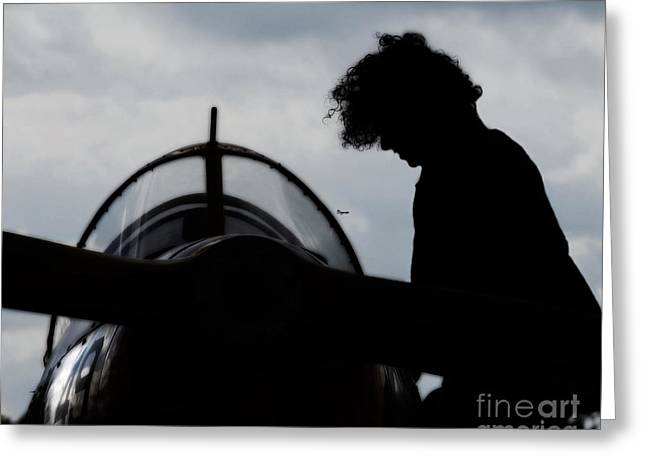 Military Airplanes Greeting Cards - Flygirl  Greeting Card by Steven  Digman