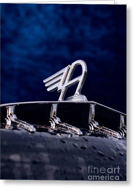 Steering Greeting Cards - Flying A - Hood Ornament Greeting Card by Henry Kowalski