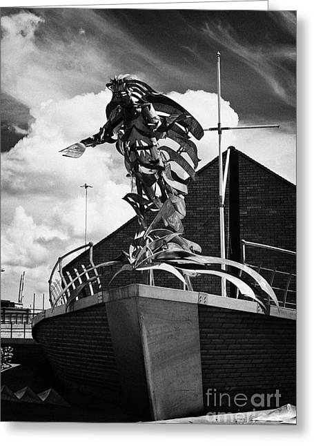 Seafarer Greeting Cards - flying angel seafarers centre misson to sailors sailortown Belfast Northern Ireland UK Greeting Card by Joe Fox