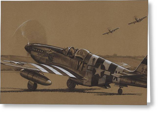 P-51 Mustang Greeting Cards - Flying Dutchman Greeting Card by Wade Meyers