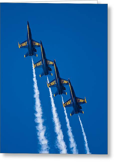 Air Shows Greeting Cards - Flying High Greeting Card by Adam Romanowicz