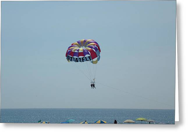 Para Sailing Greeting Cards - Flying High Greeting Card by Kenneth Cole