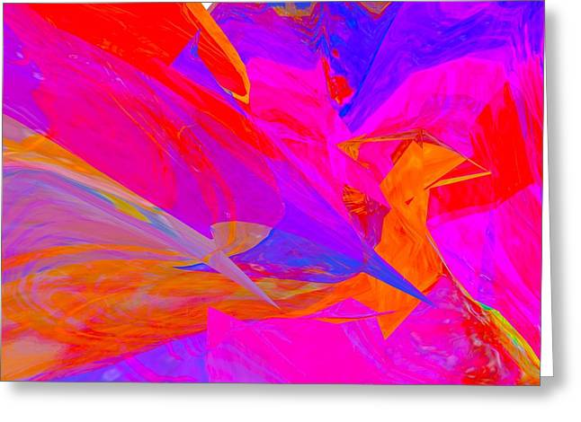 Sherri Painting Greeting Card featuring the digital art flying High sherri of palm springs by Sherri  Of Palm Springs