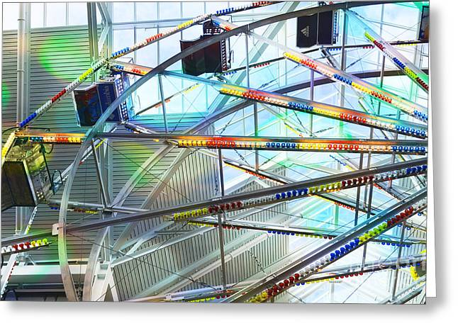Flying Inside Ferris Wheel Greeting Card by Luther   Fine Art