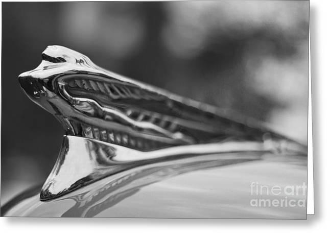 Bryan Freeman Greeting Cards - Flying Lady - 1946-48 DeSoto By Chrysler Greeting Card by Bryan Freeman