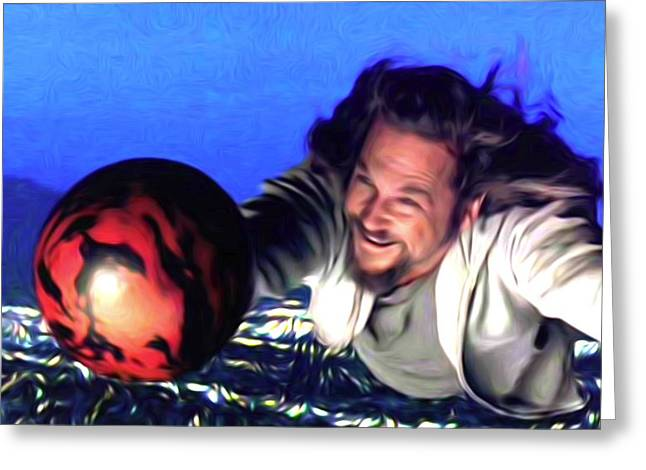 Big Lebowski Photographs Greeting Cards - Flying Lebowski Greeting Card by Guido Prussia
