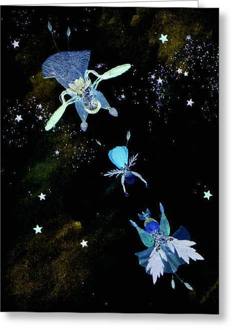 Night Angel Greeting Cards - Flying Lessons at Night Greeting Card by Karen Nelson