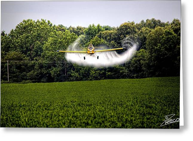 Air Tractors Greeting Cards - Flying Low Greeting Card by David Zarecor
