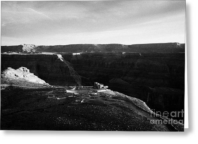 Flying Over Land Approaches To The Rim Of The Grand Canyon At Eagles Point In Hualapai Indian Reserv Greeting Card by Joe Fox