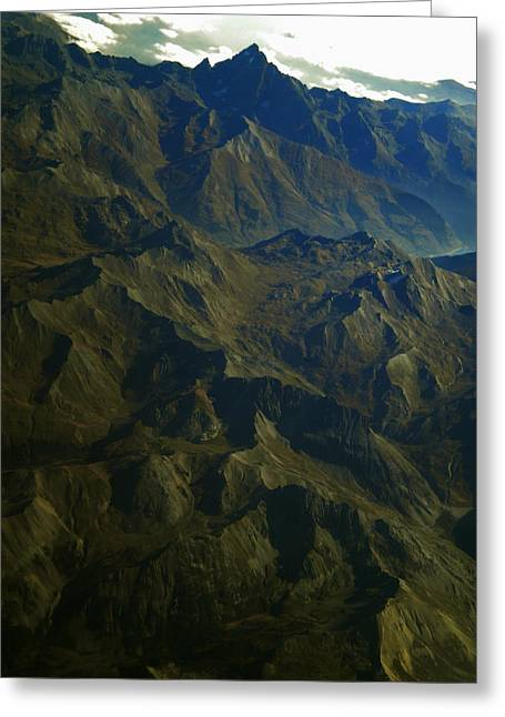 Framedprint Greeting Cards - Flying over the Alps in France Greeting Card by Colette V Hera  Guggenheim