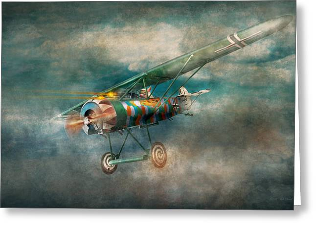 Wwi Digital Art Greeting Cards - Flying Pig - Acts of a pig Greeting Card by Mike Savad