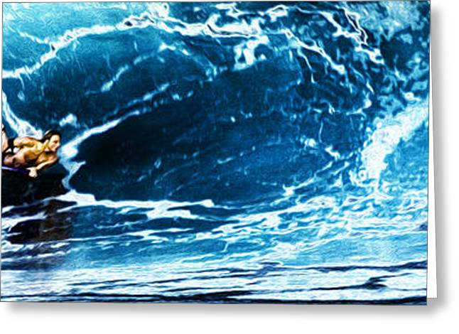 Daredevil Greeting Cards - Flying Sponger at Pipeline Greeting Card by Ron Regalado