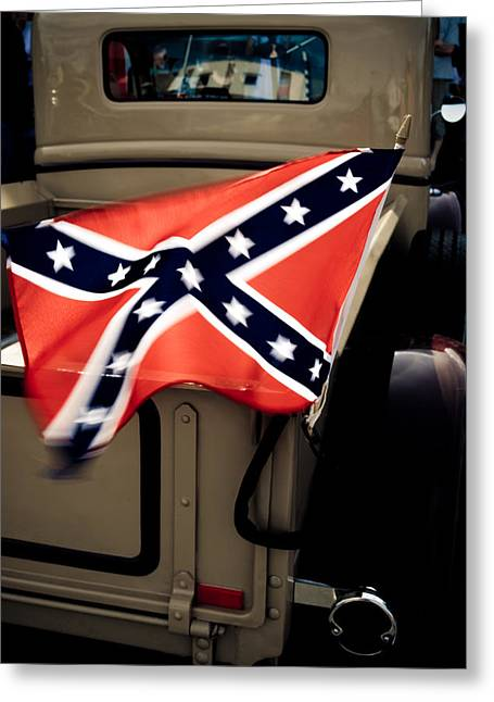 Confederate Flag Photographs Greeting Cards - Flying the Flag Greeting Card by Phil