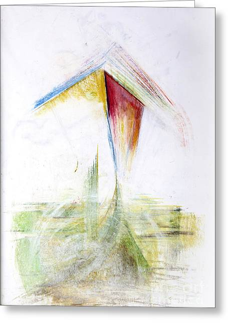 Windy Pastels Greeting Cards - Flying the Kite Greeting Card by Steven Songhurst