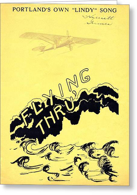 Tin Planes Greeting Cards - Flying Thru Greeting Card by Mel Thompson