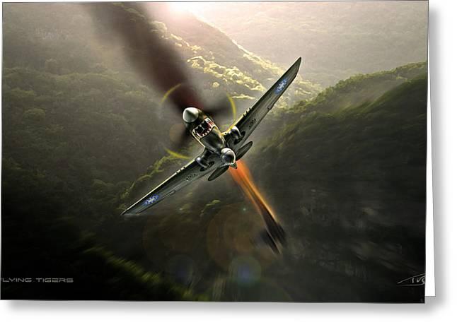 345 Greeting Cards - Flying Tigers Greeting Card by Peter Van Stigt