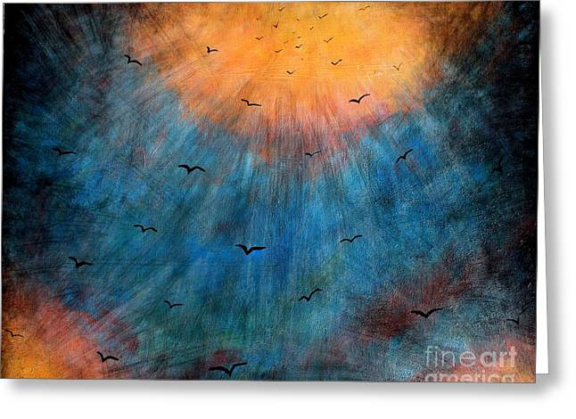 Flying Angel Greeting Cards - Flying to Heaven Greeting Card by Mike Grubb
