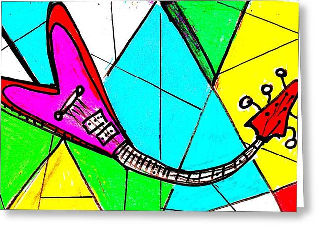 Large Scale Mixed Media Greeting Cards - Flying V Greeting Card by Bill Solley
