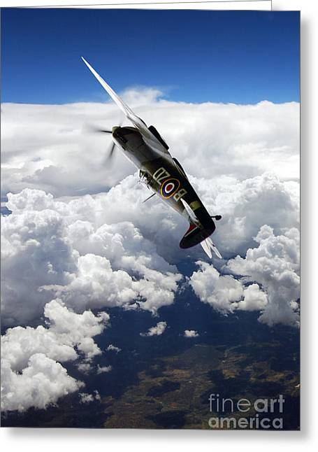 Mkix Greeting Cards - Flying With A Legend  Greeting Card by J Biggadike