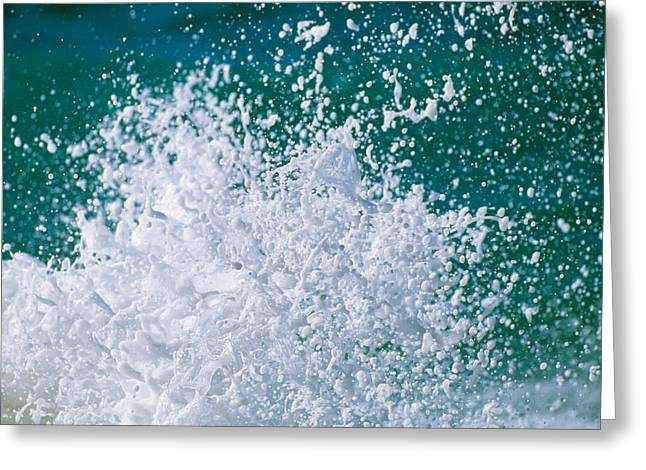 Froth Greeting Cards - Foam Splashing In The Sea Greeting Card by Panoramic Images