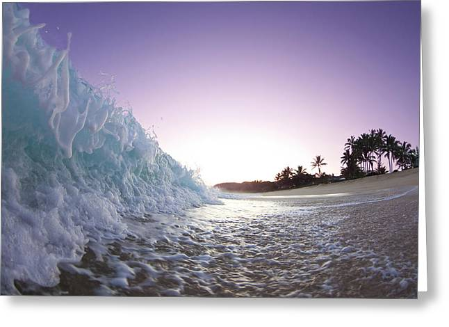 Seascape Art Greeting Cards - Foam Wall Greeting Card by Sean Davey