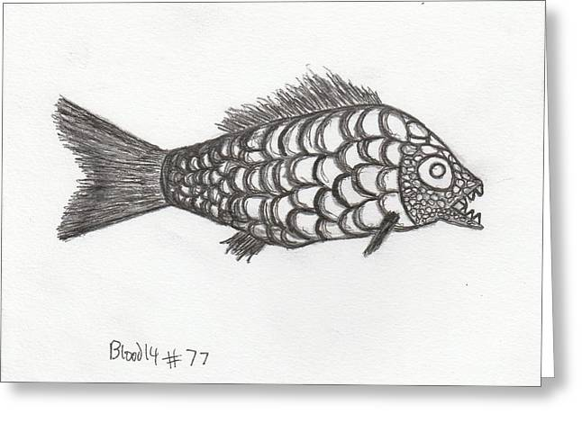 Top Seller Drawings Greeting Cards - FociFish Greeting Card by William Blood