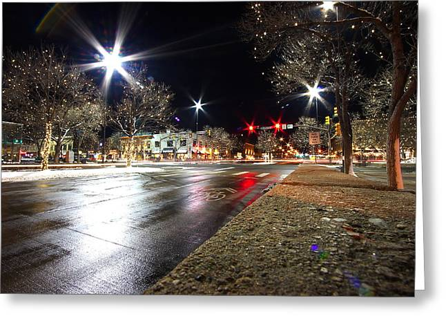 Ft Collins Greeting Cards - FOCOWinter Greeting Card by Jason D Rogers